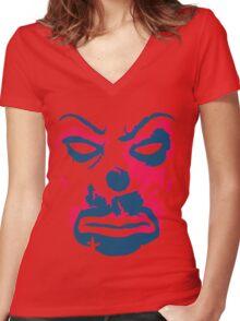 The Joker - bank mask Women's Fitted V-Neck T-Shirt