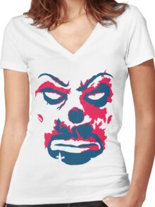 The Joker - bank mask Women's Fitted V-Neck T-Shirt