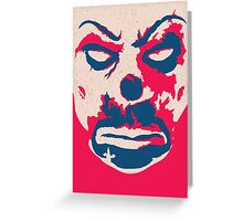 The Joker - bank mask Greeting Card