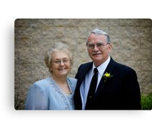 Parents of the Groom Canvas Print