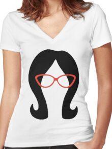 Linda Women's Fitted V-Neck T-Shirt