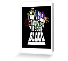 Infinity Gauntlet/Doctor Who Greeting Card