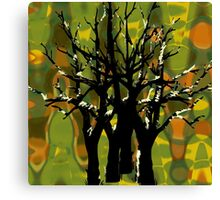 Tree Clusters Canvas Print