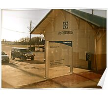 Departing McGregor Station - Texas Poster