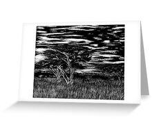 Kenya Landscape Etching Greeting Card