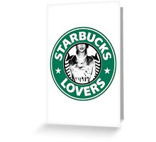 Starbucks Lovers Blank Space Taylor Swift Greeting Card