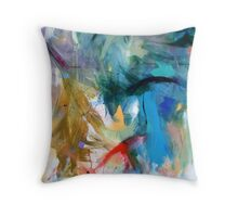 Crescendo , Abstract Leggings from original painting by Madeleine Kelly Throw Pillow