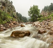 Fisherman's Panorama Colorado Canyon View by Bo Insogna