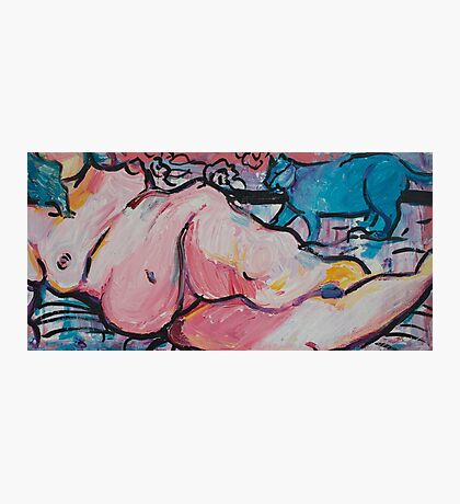 Reclining Nude with Storm Photographic Print