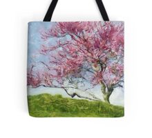 Pink Flowering Tree Tote Bag