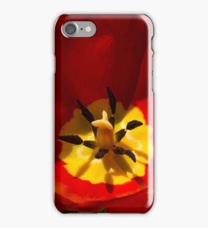 Bright and Red Sunny Tulip iPhone Case/Skin
