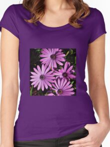 MAUVE DASIES Women's Fitted Scoop T-Shirt