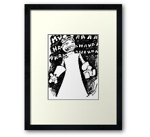 Doctor Horrible - Transparent Evil Laugh Framed Print