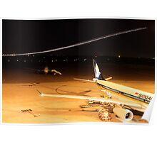 Midnight Lights - Perth Intl. Airport Poster