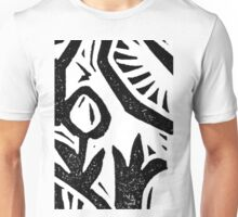 Black and white Garden 2 Unisex T-Shirt