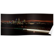 Perth Airport by Night Poster