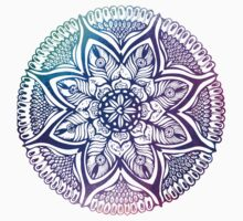Mandala#4.Hand draw  ink and pen, Watercolor, on textured paper One Piece - Short Sleeve