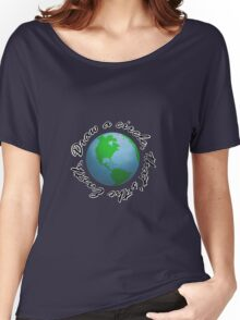 Draw a Circle, That's the Earth Women's Relaxed Fit T-Shirt