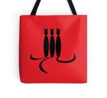 Face Drawn With Cat Tails Tote Bag