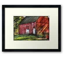 The old red barn Framed Print