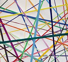 Color lines variety background watercolor painting by Serenethos