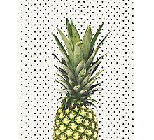 Polka dot Pineapple Photographic Print