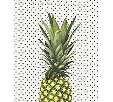 Polka dot Pineapple Photographic Print