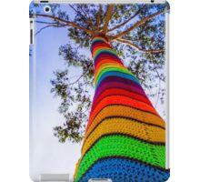 Yarn Bombed Tree, Swanston Street, Melbourne iPad Case/Skin