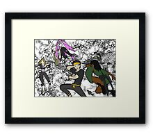 Heroes in a half-cast Framed Print