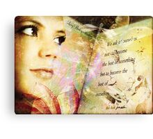 We Ask Canvas Print