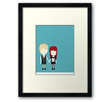 She's Rather Beautiful - Naomi and Emily Stylized Print Framed Print