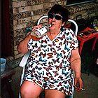 Grandma Drinking A 40 by Robert Howington