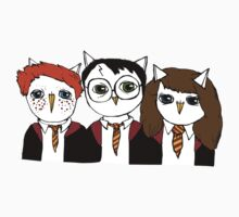 Harry, Ron and Hermione as Owls Kids Clothes
