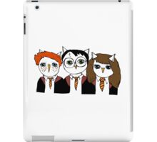 Harry, Ron and Hermione as Owls iPad Case/Skin