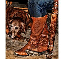 Boots and Buddy Photographic Print