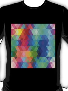 Abstract hipsters pattern with colored rhombus T-Shirt