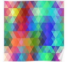 Abstract hipsters pattern with colored rhombus Poster