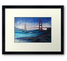 San Fransisco Golden Gate Bridge painting Framed Print