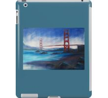 San Fransisco Golden Gate Bridge painting iPad Case/Skin
