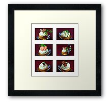 Croustades to Go For Fingerfood Framed Print