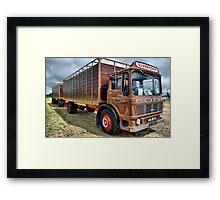 truck and trailer Framed Print