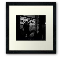 black and white Framed Print