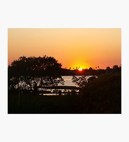Sunset above the railing Photographic Print