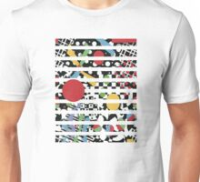 Ticker Tape Geometric Design Unisex T-Shirt