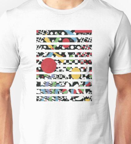 Ticker Tape Geometric Design Unisex T-Shirt