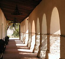 Mission San Juan Bautista - Portico Left by Cupertino