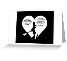 Kingdom hearts sora quote Greeting Card
