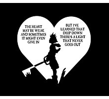 Kingdom hearts sora quote Photographic Print