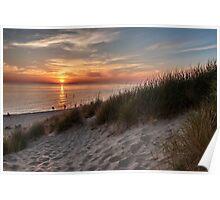 Sunset over Lake Michigan Poster