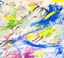 Happy Chaos Abstract Painting by Serenethos
